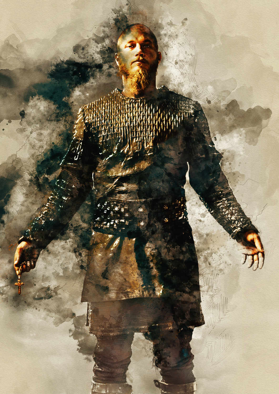 A3 Print - Vikings - Ragnar Lothbrok