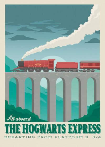 Pergament - Harry Potter - All aboard the Hogwarts Express