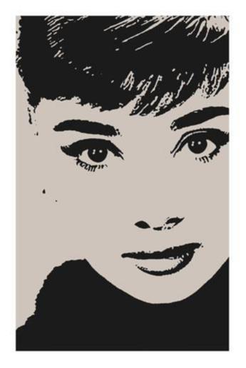 Poster - Audrey Hepburn - Stencil