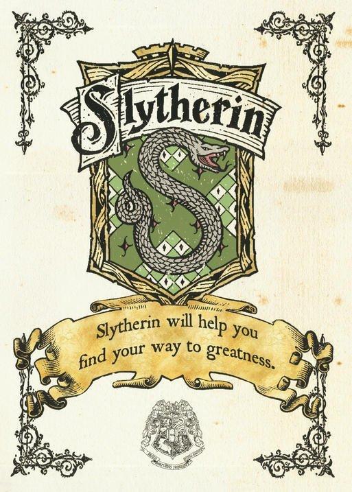 A3 Print - Harry Potter - Slytherin Crest