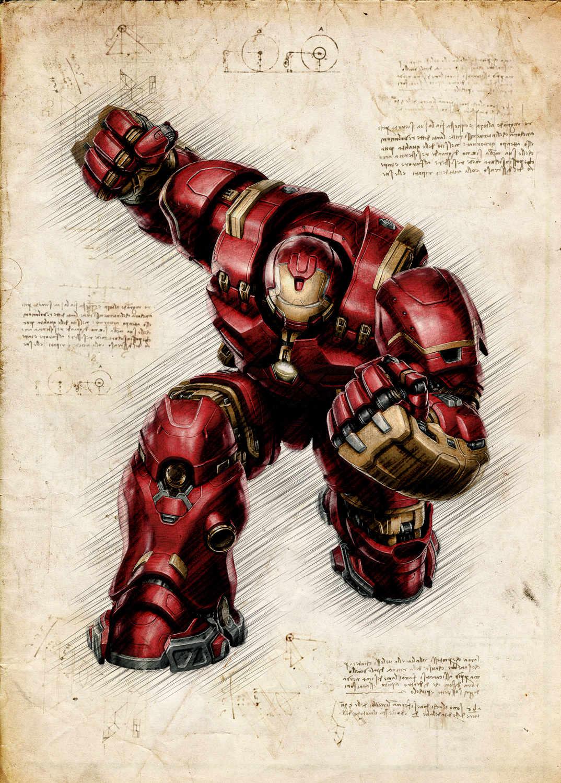 A3 Print - Ironman Hulkbuster