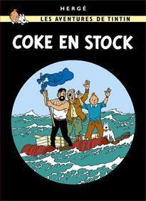 Poster - Tintin Coke en stock - Koks i lasten