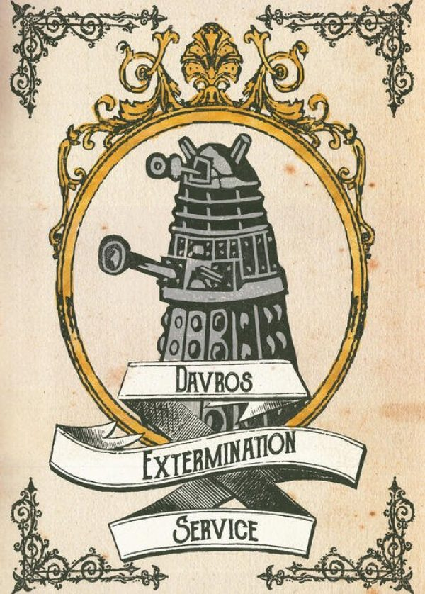 A3 Print inklusive Ram - Doctor Who - Davros Extermination Service