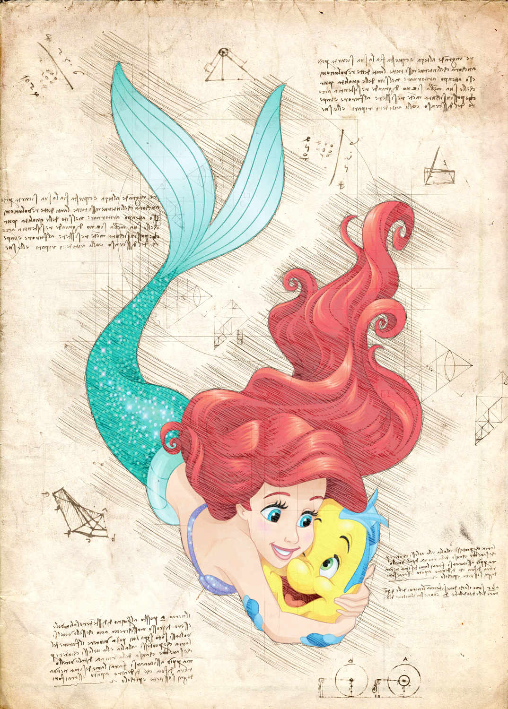 A3 Print - Disney - Ariel 2