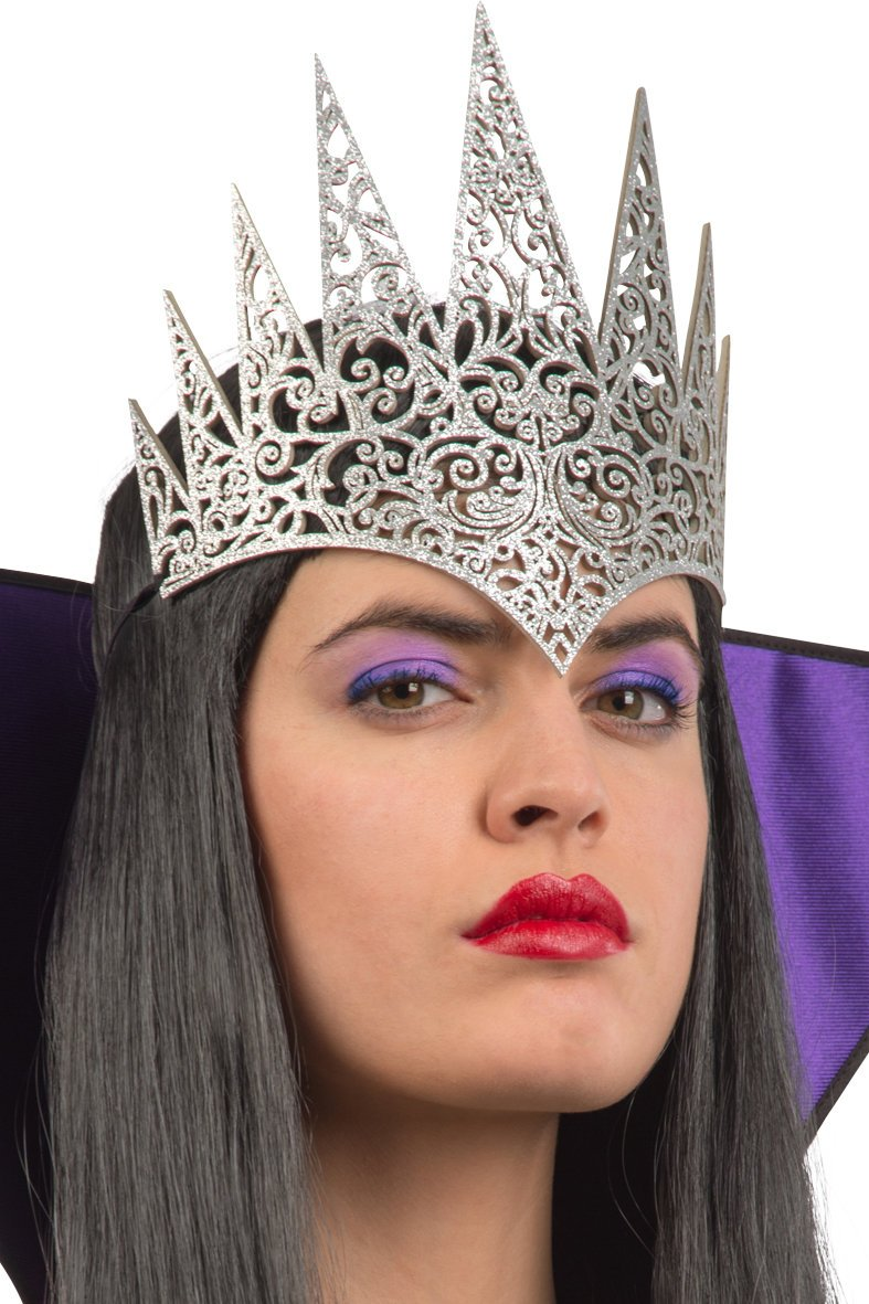 Ansiktsmask - Silver Crown in carved fabric