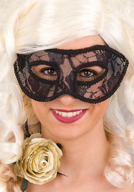 Ansiktsmask - Black lace mask