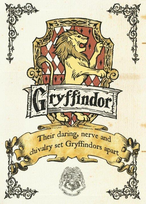 A3 Print - Harry Potter - Gryffindor Crest