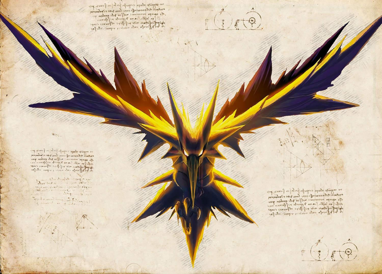 Pergament - Pokemon - Zapdos