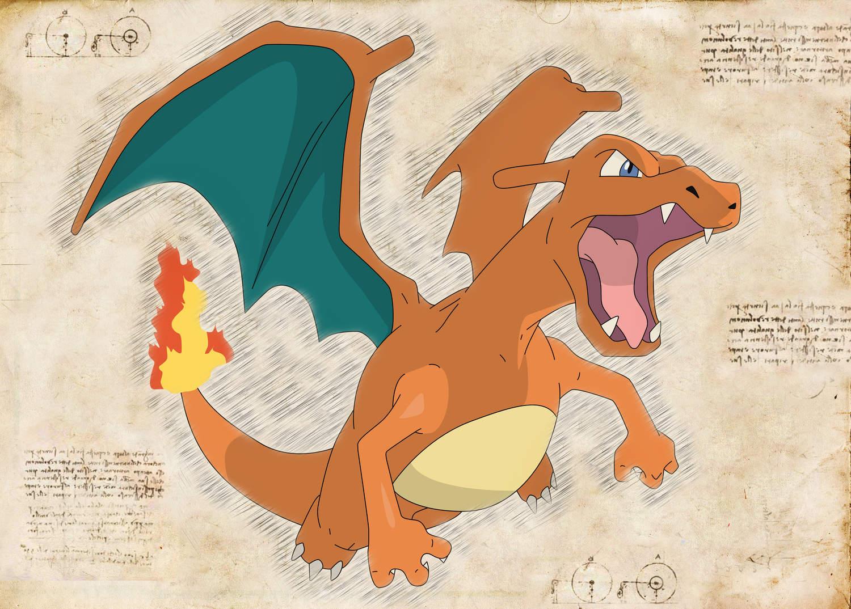 Pergament - Pokemon - Charizard 2