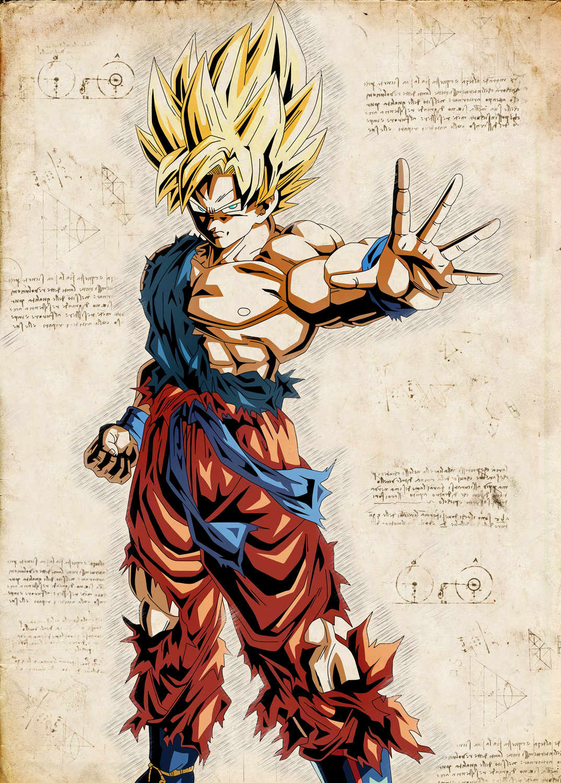 Pergament - Dragon Ball - Gohan