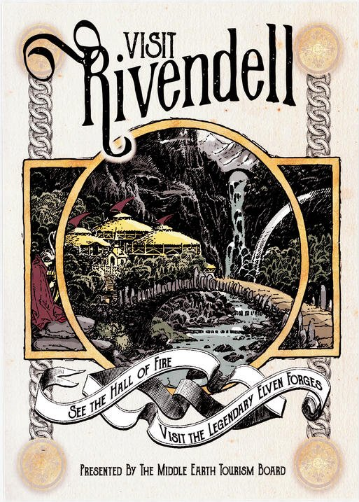 A3 Print - Lord of the rings - Visit Rivendell