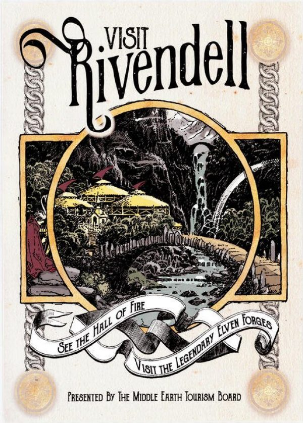 Pergament - Lord of the rings - Visit Rivendell