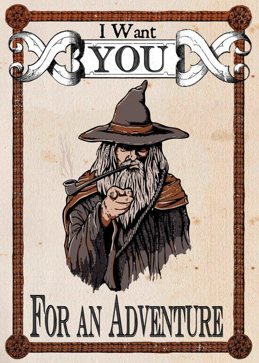 Pergament - Lord of the rings - Gandalf - I Want You