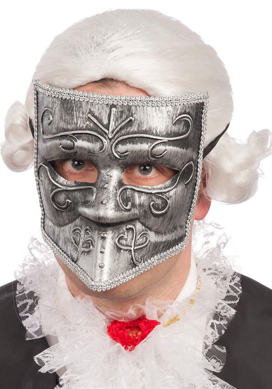 Ansiktsmask - Venetian silver bautta mask