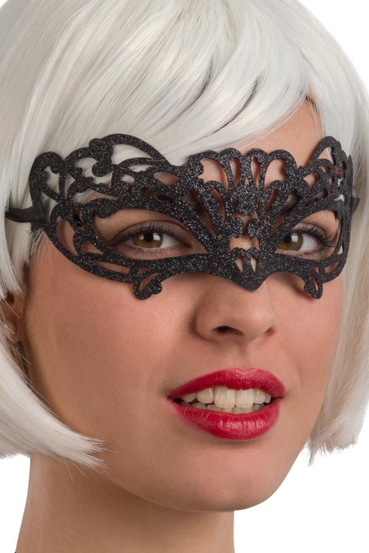 Ansiktsmask - Black glitter mask