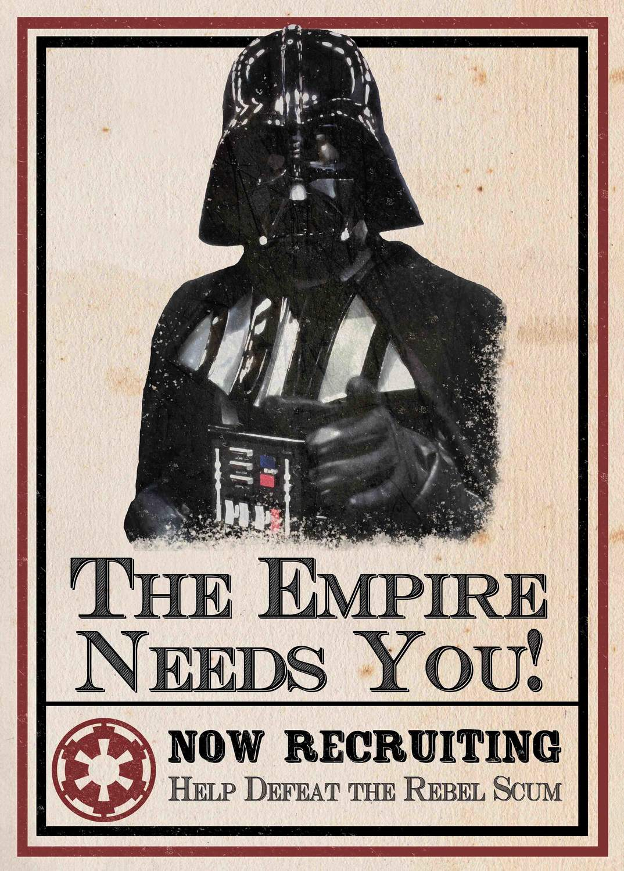 A3 Print - Star Wars - Darth Vader - The Empire Needs You