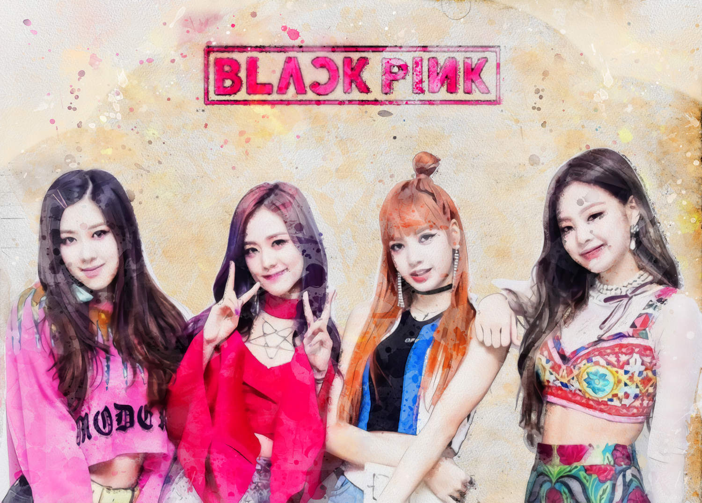 A3 Print - K Pop - Black Pink