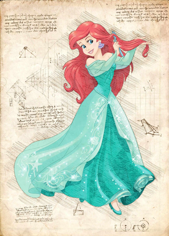 A3 Print - Disney - Ariel 3