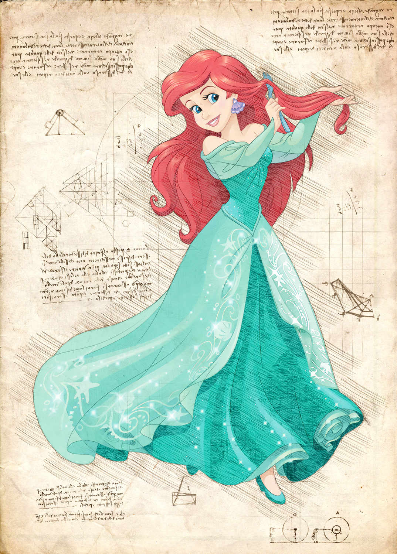 Pergament - Disney - Ariel 3