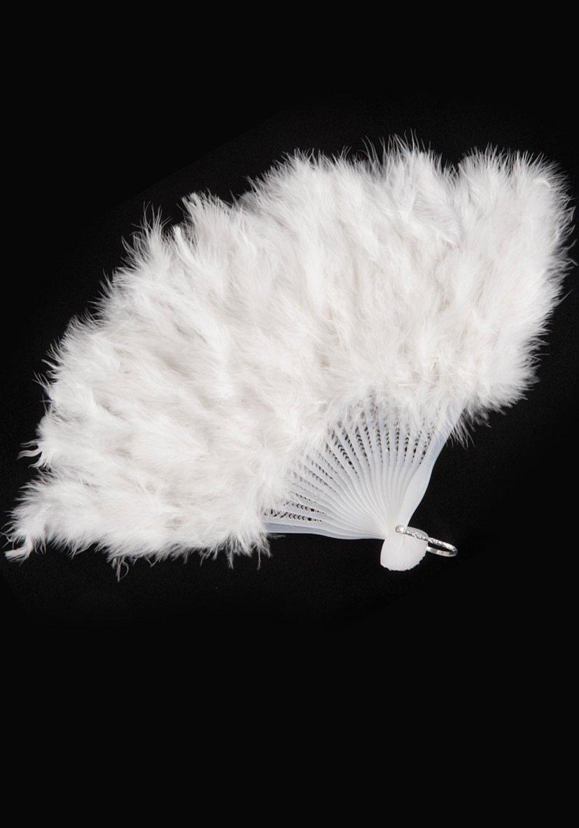 White Feathers Fan