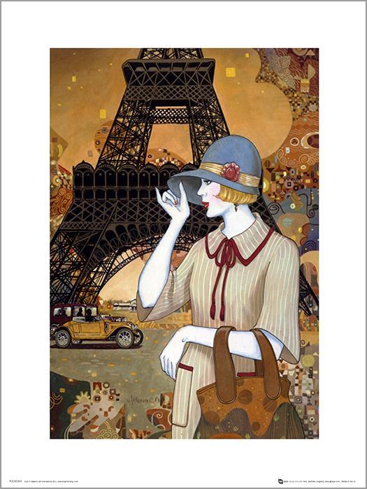 Exklusivt Art Print - Helena Lam - Paris adventure