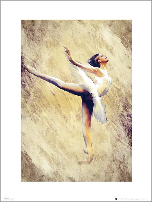 Exklusivt Art Print - Ballerina