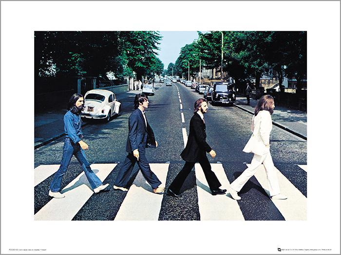 Exklusivt Art Print - The Beatles - Abbey Road