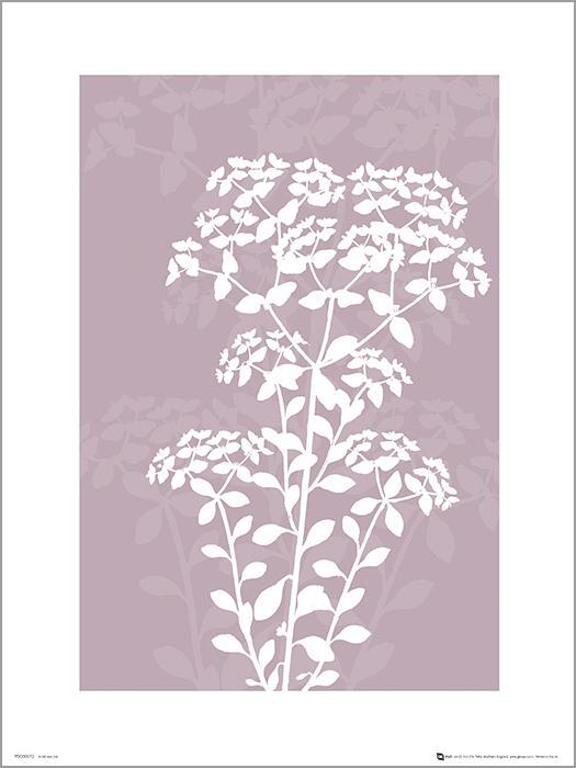 Exklusivt Art Print - Pressed leaf pink - Pressat blad, rosa