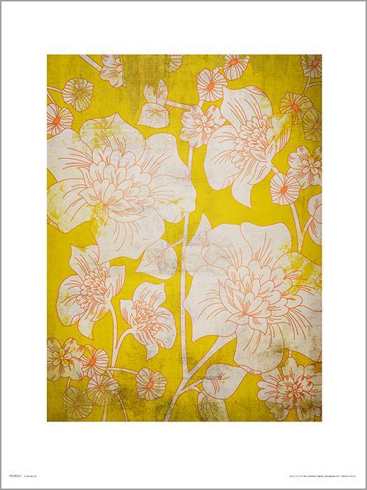 Exklusivt Art Print - Flowes Yellow - Blommor i gult