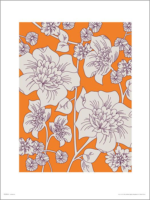 Exklusivt Art Print - Flowes Orange - Blommor i orange