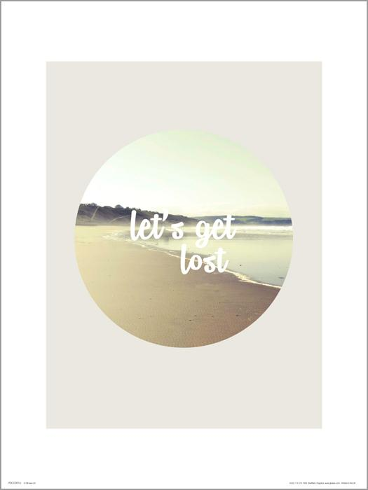 Exklusivt Art Print - Let´s get lost - Text