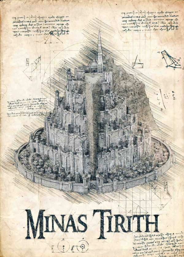 Pergament - Lord of the rings - Minas Tirith
