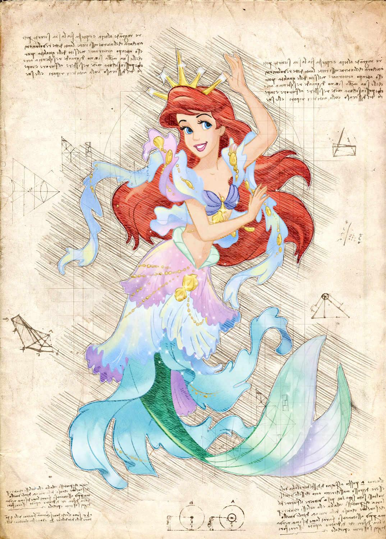 A3 Print - Disney - Ariel 1