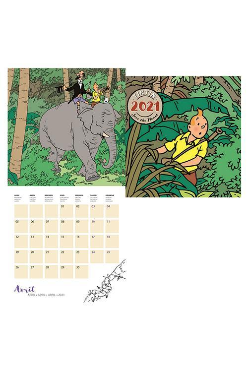 Tintin - Kalender 30 x 30 cm 2021