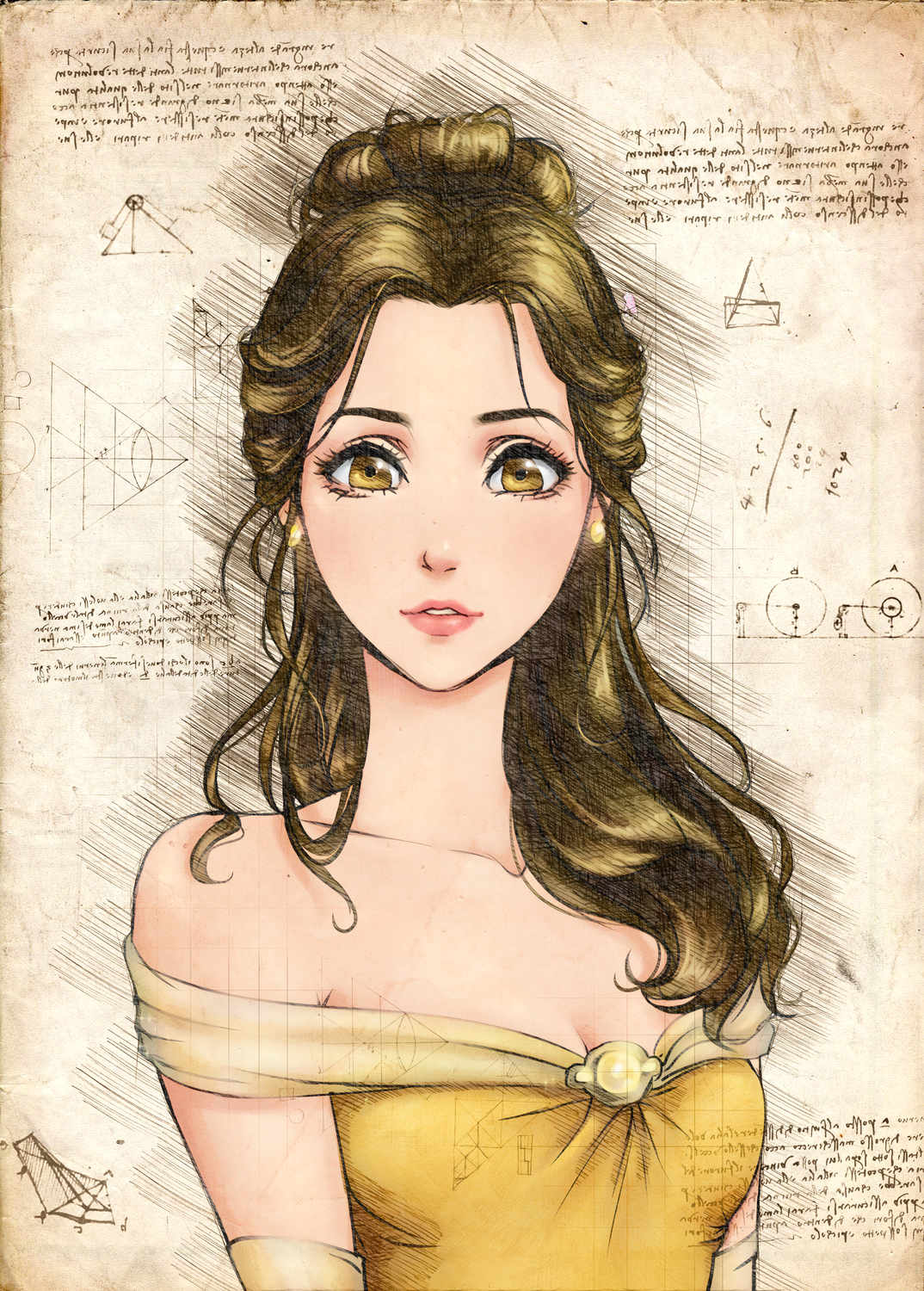 A3 Print - Disney - Beauty and the beast - Belle