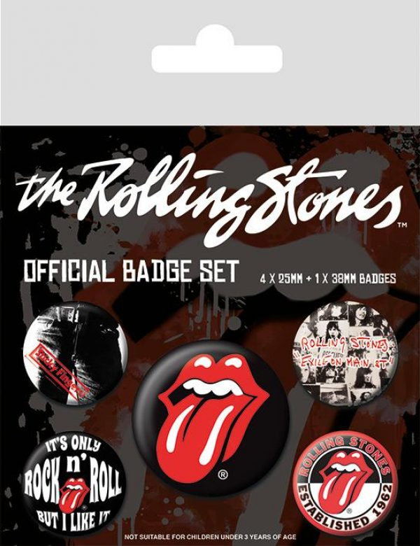 Knappsats - Badge Pack - The Rolling Stones (Classic)