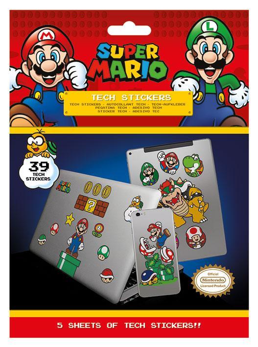 Tech stickers - Super Mario (Mushroom Kingdom)