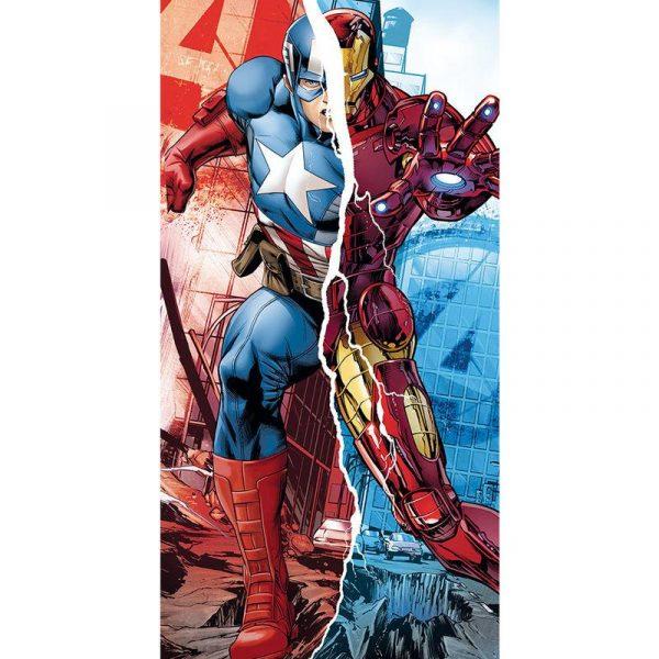 Marvel Avengers Captain America Iron Man - Handduk