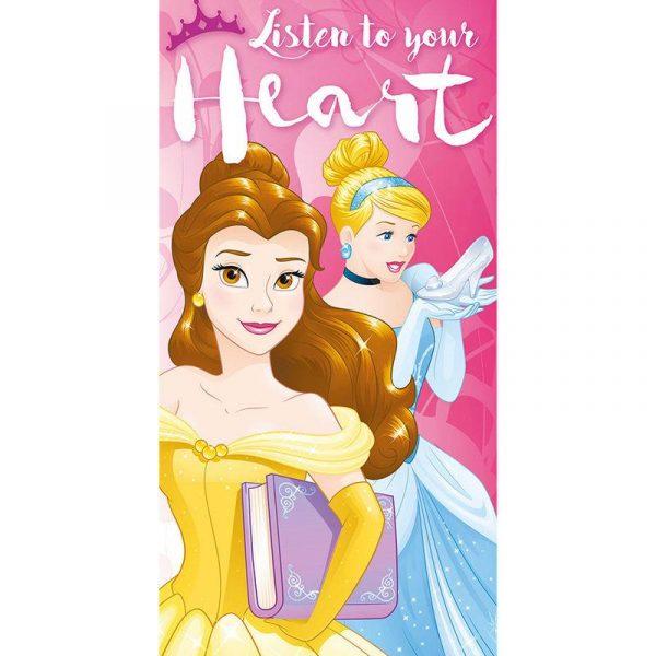 Disney Princess - Listen to your Heart cotton - Handduk