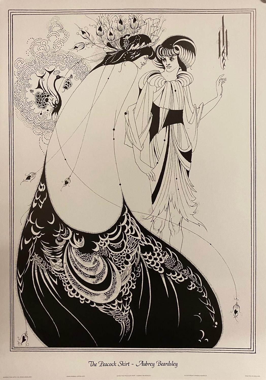 The Peacock Skirt - Aubrey Beardsley