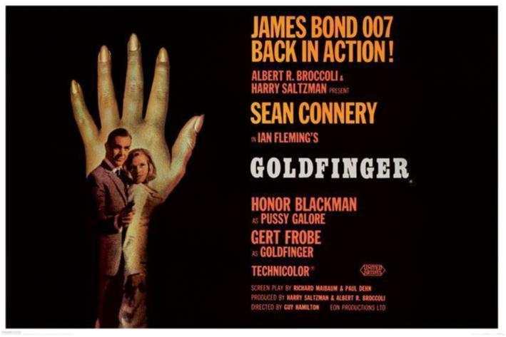 James Bond 007 - Gold Finger - One Sheet