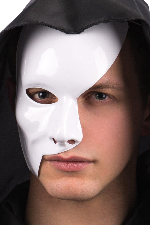 Ansiktsmask - Half face white Phantom of the opera mask