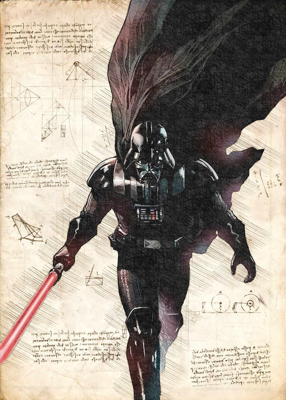 A3 Print - Star Wars - Darth Vader - Running