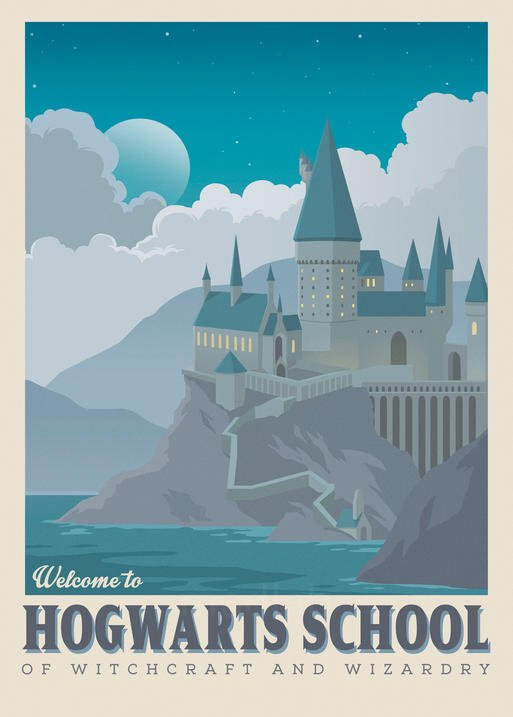 A3 Print - Harry Potter - Welcome to Hogwarts School