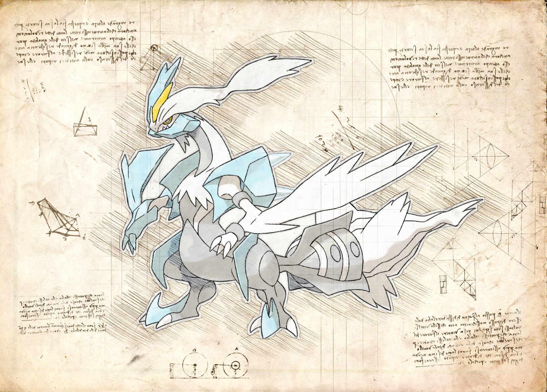 Pergament - Pokemon - Kyurem White
