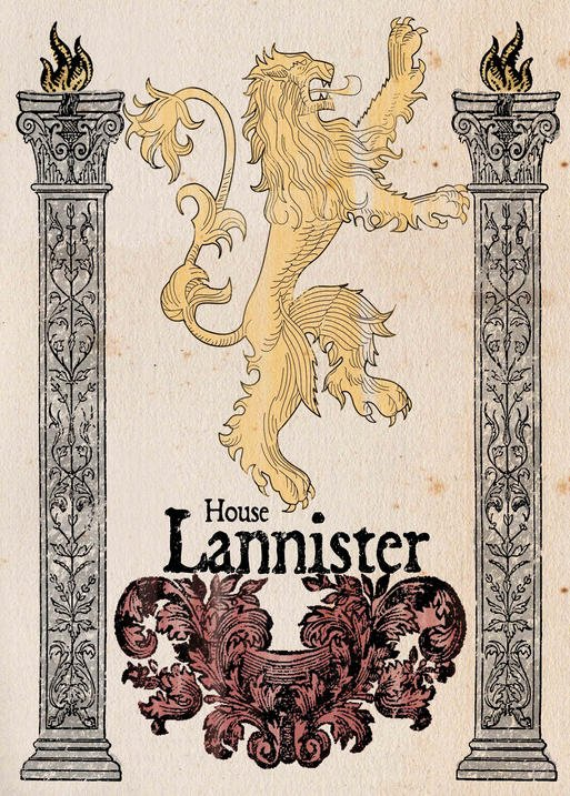 Pergament - Game Of Thrones - House Lannister