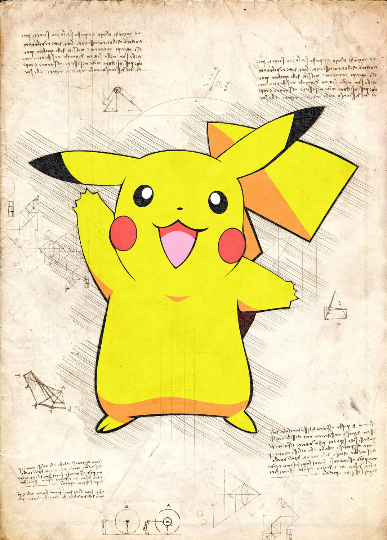 Pergament - Pokemon - Pikachu
