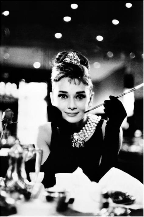 Audrey Hepburn - Breakfast at Tiffanys, Svart vitl