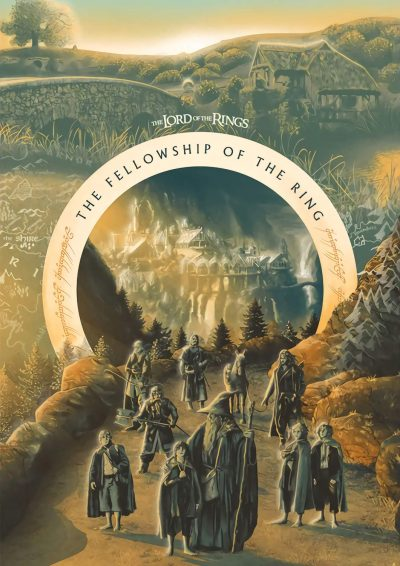 A3 Print - Lord of the rings - Felowship of the ring
