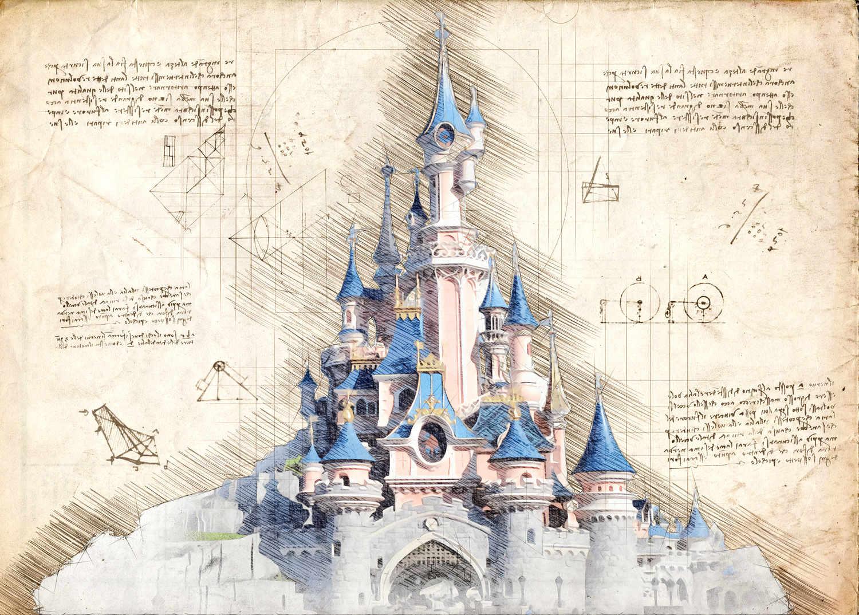 A3 Print - Disney Castle Paris